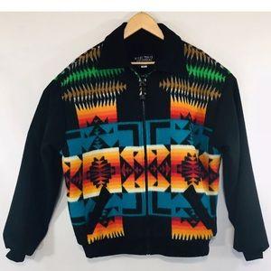 Rocky Trails Men's Jacket Aztec Western Wool
